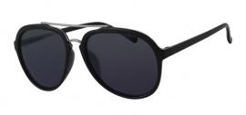 Zwarte Zonnebril met Grijze Glazen