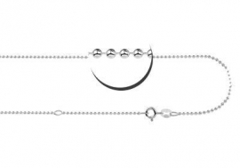 Zilveren Bolletjes Ketting Names4ever 38-42 cm