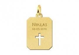 Names4ever Gouden Naamhanger met Kruis