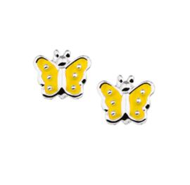 Gele Vlinder Oorknopjes
