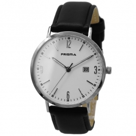 Prisma Horloge 1501 Heren Edelstaal Slimline