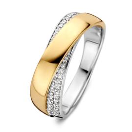 Excellent Jewelry Brede Bicolor Ring met Briljanten