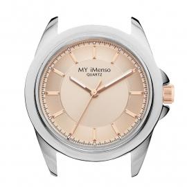 MY iMenso Horloge Kast met Roségoudkleurige Wijzerplaat