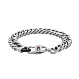Zilverkleurige Schakel Armband voor Heren van Tommy Hilfiger TJ2790202