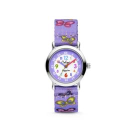 Paars Horloge met Vlinders voor Kids van Colori Junior