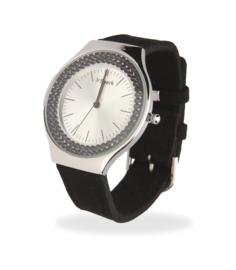 Centella Horloge met Zwart Lederen Horlogeband van Spark