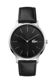 Lacoste Zilverkleurig Moon Heren Horloge met Zwarte Horlogeband