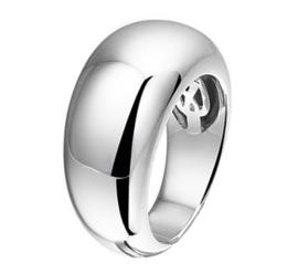 Robuuste Basic Ring van Gerhodineerd Zilver