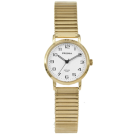 Goudkleurig Dames Horloge van Prisma met Goudkleurige Rekband