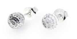 Witte Swarovski Bol Oorstekers van Spark Jewelry