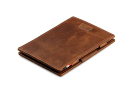 Geborsteld Bruine Magic Wallet Portemonnee van Cavare Garzini