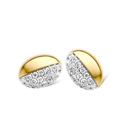 Excellent Jewelry Bicolor Ovaalvormige Oorstekers met Briljanten