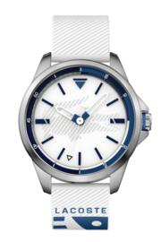 Lacoste CapBreton Heren Horloge met Witte Silicone Band