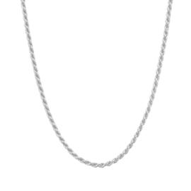 Zilveren Collier met Koord Schakels 3,5 mm 40 + 4 cm