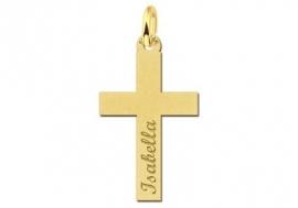 Names4ever Communie Gouden Kruishanger met Naam