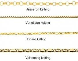 Names4ever Vier Namen Infinity Ketting van Goud
