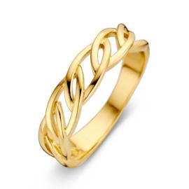 Excellent Jewelry Geelgouden Ring met Opengewerkte Schakels