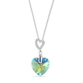 Spark Amore Zilveren Ketting met Erenite Shimmer Glaskristal