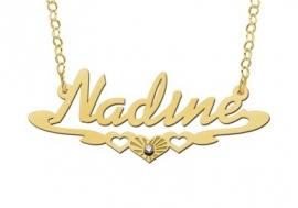 Names4ever Nadine Stijl Gouden Naamketting