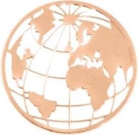 Wereldbol Munt MY iMenso / Roségoudkleurige coating