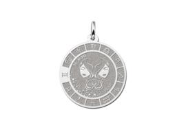 Zilveren Tweeling Sterrenbeeld Bedel met Naam ZHS087 | Names4ever
