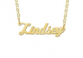 Names4ever Lindsey Stijl Gouden Naamketting