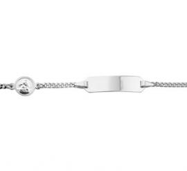 Zilveren Graveer Armband met Scapulier