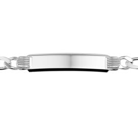 Figaro Unisex Graveer Armband van Zilver 20cm