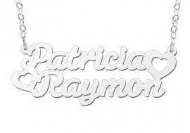 Names4ever Patricia-Raymon Stijl Zilveren Naamketting