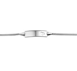 Witgouden Graveer Baby Armband | 11 - 13 cm