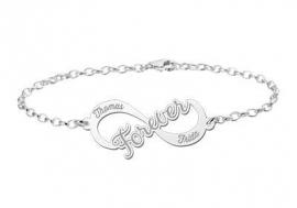 Names4ever Forever Infinity Armband van Zilver - Graveer Sieraad