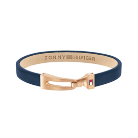 Tommy Hilfiger Blauw Lederen Armband TJ2790054