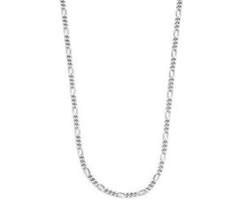 Zilveren Collier figaro 2,2 mm 60 cm