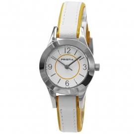 Prisma Horloge P.2588 Kids HT Anna Wit/Geel