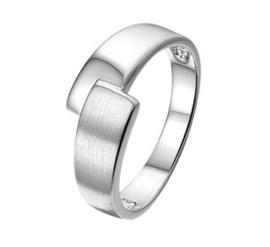 Ring van Zilver met Overlappende Uiteinden