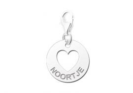 Names4ever Ronde Charm-Naambedel met Hart ZNB01