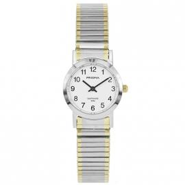 Prisma Horloge P.1816 Dames Rekband Edelstaal Saffierglas