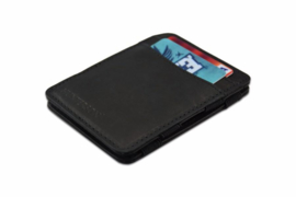 Zwarte Magic Wallet RFID Portemonnee van Hunterson