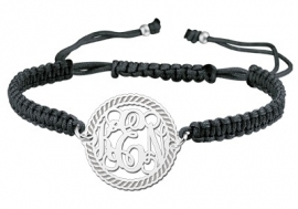 Zilveren Motion Monogram Armband ZNA08 > Names4ever