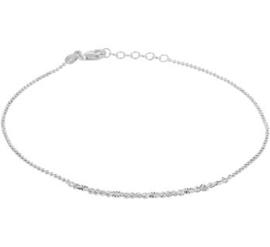 Zilveren Enkelband 1,1 mm 24 + 2 cm