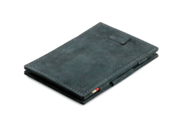 Carbon Zwarte Magic Wallet Portemonnee van Cavare Garzini