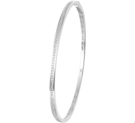 Fijne Bangle armband van Witgoud met Diamanten