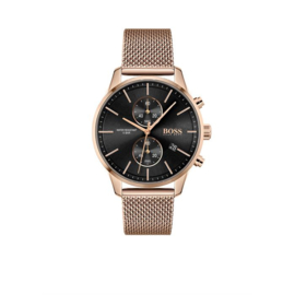 Hugo Boss Horloge Associate Roségoudkleurig Horloge met Milanese Band van Boss