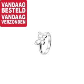 Zilveren Vlinder Ring voor Kinderen / Maat 12,5