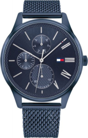 Tommy Hilfiger Blauw Heren Horloge met Blauwe Wijzerplaat