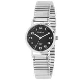 Edelstalen Dames Horloge met Rekband Prisma