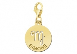 Names4ever Zodiac-Bedel Maagd in massief goud GBS006