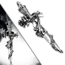 Zwaard met Draak Edelstalen Hanger