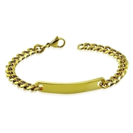 Goudkleurige Graveer Armband