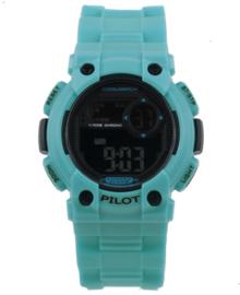 Lichtblauw Cool Watch Digitaal Pilot Jongens Horloge